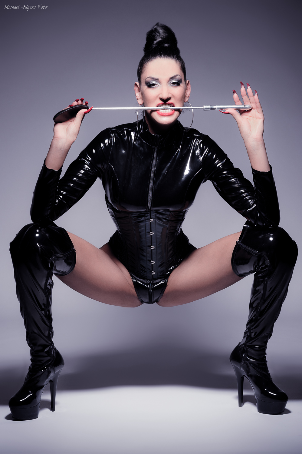 Femdom Boots Slave Suffering From Humiliation Under